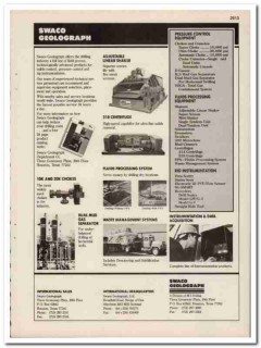 M-I Drilling Corp 1993 Vintage Catalog Oil Swaco Geolograph Control