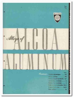Aluminum Company of America 1945 vintage metal catalog Alcoa Alloys