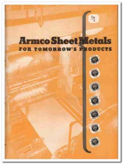 American Rolling Mill Company 1945 vintage metal catalog Armco sheet