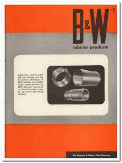 Babcock Wilcox Tube Company 1945 vintage metal catalog welded seamless