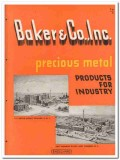 Baker Company 1945 vintage catalog precious metal industry products