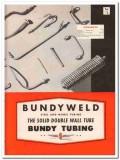 Bundy Tubing Company 1945 vintage metal catalog steel double wall tube