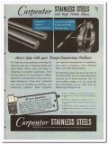 Carpenter Steel Company 1945 vintage metal catalog stainless alloys