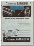 Carpenter Steel Company 1945 vintage metal catalog stainless alloys