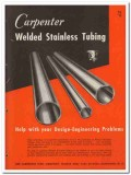Carpenter Steel Company 1945 vintage metal catalog welded stainless