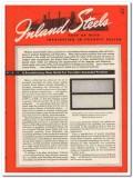 Inland Steel Company 1945 vintage metal catalog porcelain enameled