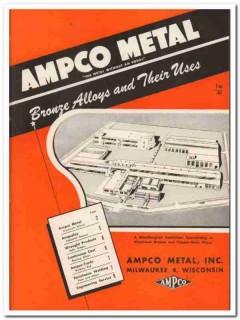 Ampco Metal Inc 1945 vintage catalog bronze alloys