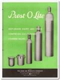 Prest-O-Lite Company 1945 vintage metal catalog gas cylinder