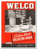 B A Wesche Electric Company 1945 vintage catalog Welco collector rings