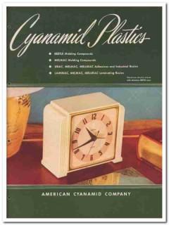 American Cyanamid Company 1945 vintage plastic catalog beetle molding