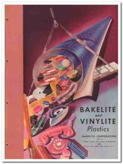 Bakelite Corp 1945 vintage plastic catalog vinylite union carbide
