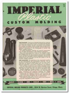 Imperial Molded Products Corp 1945 vintage plastic catalog molding