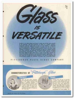 Pittsburgh Plate Glass Company 1945 vintage catalog versatile products