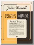 Johns-Manville 1945 vintage catalog asbestos textile friction material