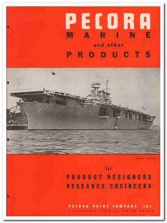 Pecora Paint Company 1945 vintage catalog marine products compounds
