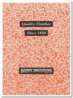 Berry Brothers Inc 1945 vintage paint catalog finishes varnishes