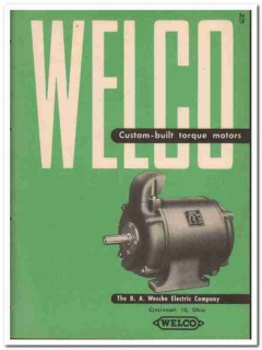 B A Wesche Electric Company 1945 vintage catalog motors custom torque