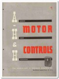 Arrow-Hart Hegeman Electric Company 1945 vintage catalog motor control