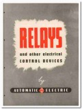 Automatic Electric Sales Corp 1945 vintage catalog relays control
