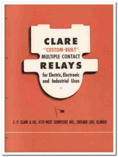 C P Clare Company 1945 vintage electrical catalog relays custom-built