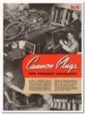 Cannon Electric Development Company 1945 vintage catalog plugs connect