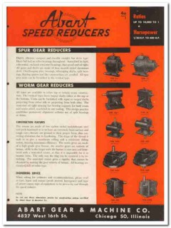 Abart Gear Machine Company 1945 vintage industrial catalog reducers