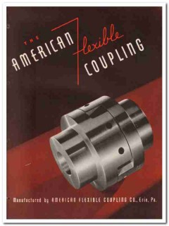 American Flexible Coupling Company 1945 vintage industrial catalog
