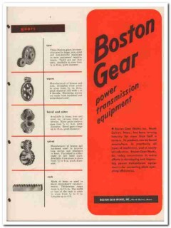 Boston Gear Works Inc 1945 vintage industrial catalog power equipment
