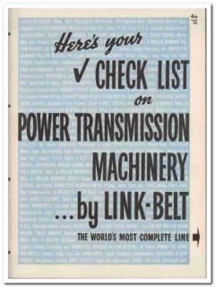 Link-Belt Company 1945 vintage industrial catalog power transmission