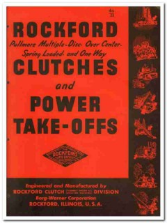 Borg-Warner Corp 1945 vintage industrial catalog Rockford Clutches