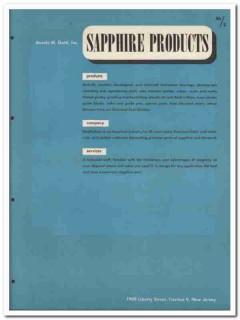 Aurele M Gatti Inc 1945 vintage industrial catalog sapphire products