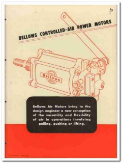 Bellows Company 1945 vintage industrial catalog air power motors