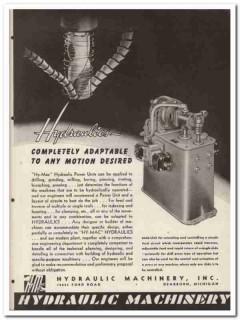 Hydraulic Machinery Inc 1945 vintage industrial catalog power units