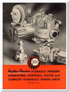 Hydro-Power Systems Inc 1945 vintage industrial catalog hydraulic