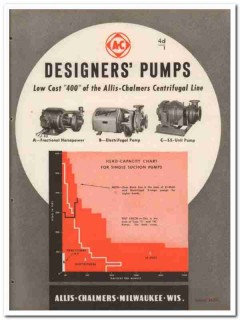 Allis-Chalmers 1945 vintage industrial catalog designers pumps