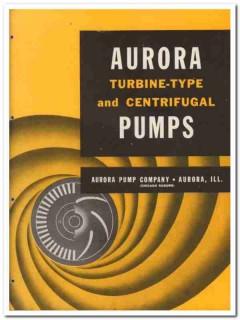 Aurora Pump Company 1945 vintage industrial catalog centrifugal