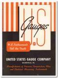 United States Gauge Company 1945 vintage industrial catalog instrument