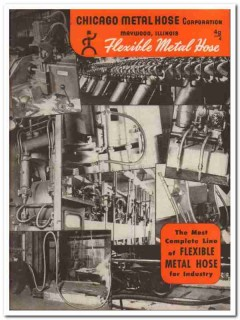Chicago Metal Hose Corp 1945 vintage industrial catalog flexible