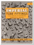 Imperial Brass Mfg Company 1945 vintage metal catalog tube fittings