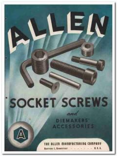Allen Mfg Company 1945 vintage industrial catalog socket screws hex