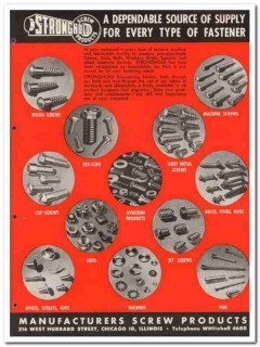 Manufacturers Screw Products 1945 vintage industrial catalog fasteners