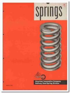 American Locomotive Company 1945 vintage industrial catalog springs
