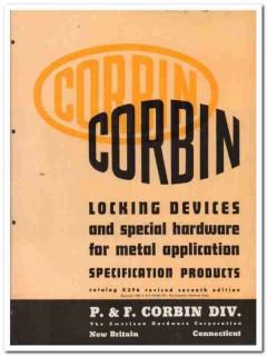 American Hardware Corp 1945 vintage industrial catalog Corbin locking
