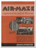 Air-Maze Corp 1945 vintage industrial catalog filtration air oil