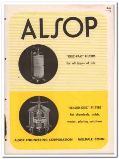 Alsop Engineering Corp 1945 vintage industrial catalog filters oils