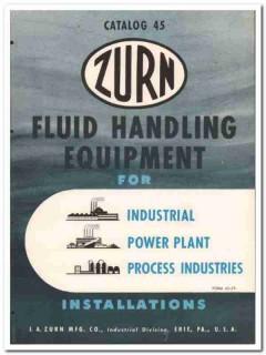 J A Zurn Mfg Company 1945 vintage industrial catalog fluid handling