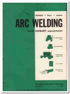 Hobart Brothers Company 1945 vintage metal catalog arc welding