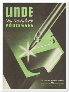 Linde Air Products Company 1945 vintage metal catalog Oxy-Acetylene