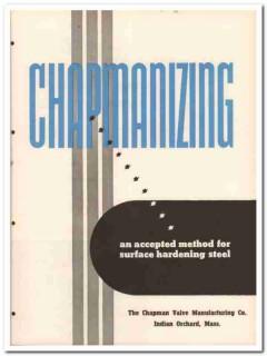 Chapman Valve Mfg Company 1945 vintage metal catalog steel hardening