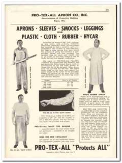 Pro-Tex-All Apron Company 1956 vintage dairy catalog smocks sleeves